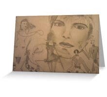 Abstract people montage Greeting Card