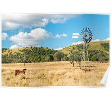 Outback Windmill Poster