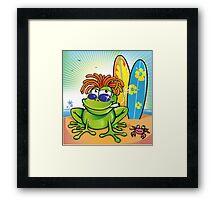 jamaican summer frog Framed Print