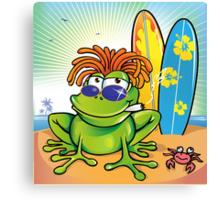 jamaican summer frog Canvas Print