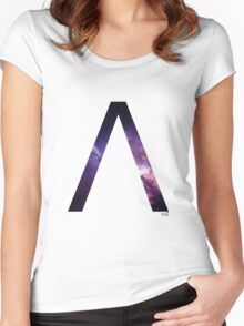 Lambda letter space concept Women's Fitted Scoop T-Shirt
