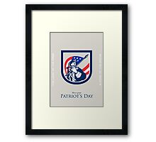 Patriots Day Greeting Card American Patriot  USA Flag Look Up Crest Framed Print