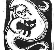 Black Cat Spirit by craftyhag