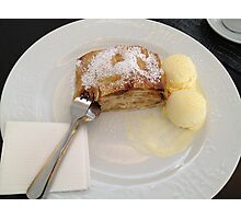 Hot Apple Strudel Photographic Print