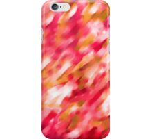 Watercolor red lines - brush drawing iPhone Case/Skin
