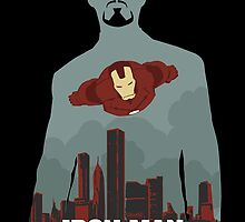 the Iron man as Tony Stark by Mixposters