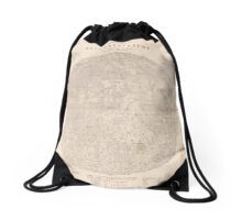 vintage Moon map Drawstring Bag