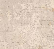vintage Moon map Sticker