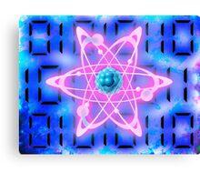digital atom Canvas Print