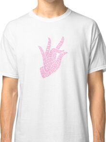 Heart Hand Pastel Pink,small version Classic T-Shirt
