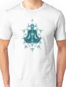 Yoga pose Deep Turquoise-Seafoam Teal Unisex T-Shirt