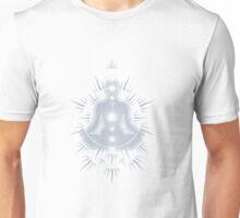Yoga pose Neutral Blue-White Unisex T-Shirt