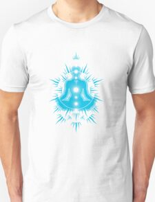 Yoga pose Sky Blue-White T-Shirt