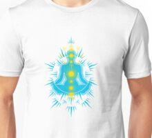 Yoga pose Sky Blue-Yellow Unisex T-Shirt