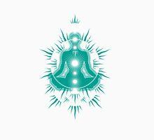 Yoga pose Turquoise-White Unisex T-Shirt