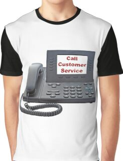 Customer Service VoIP Phone Graphic T-Shirt
