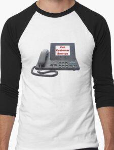 Customer Service VoIP Phone Men's Baseball ¾ T-Shirt