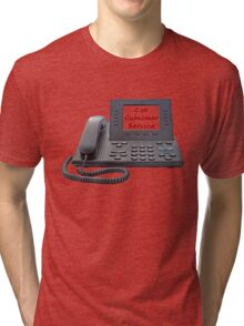 Customer Service VoIP Phone Tri-blend T-Shirt