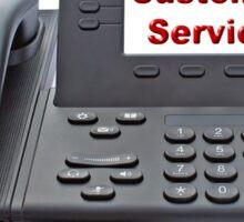 Customer Service VoIP Phone Sticker