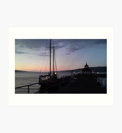 Finger Lakes at Sunset Art Print