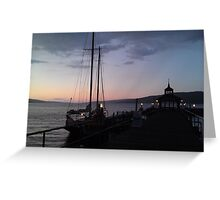 Finger Lakes at Sunset Greeting Card