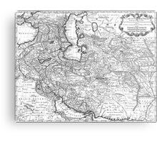 Persia Map 1724 Metal Print