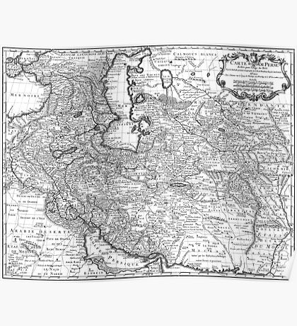 Persia Map 1724 Poster