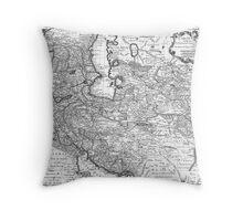 Persia Map 1724 Throw Pillow