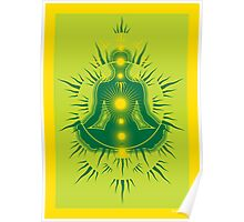 Yoga pose Emerald-Lime-yellow Poster