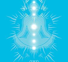 Yoga pose Sky Blue-Light sky blue-White by aygeartist