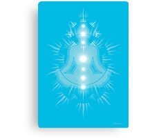 Yoga pose Sky Blue-Light sky blue-White Canvas Print