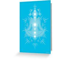Yoga pose Sky Blue-Light sky blue-White Greeting Card
