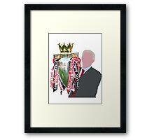 Sir Alex Ferguson Minimalist Framed Print