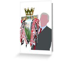 Sir Alex Ferguson Minimalist Greeting Card