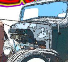 36 Chevy Rat Rod Truck Bruise T-Shirt Sticker