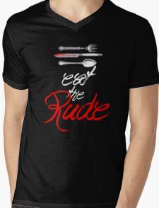 Hannibal - Eat the Rude (Vintage style) Mens V-Neck T-Shirt