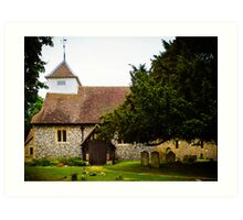 St Mary's Sulhamstead Abbots Art Print