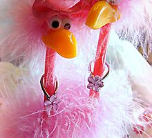 Invasion Of The Pink Flamingos~ For Challenge by Susan Bergstrom