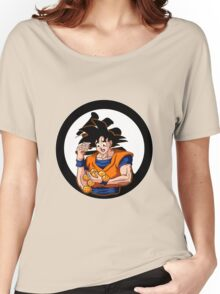 Goku: Why Can't I Hold All These Dragon Balls? Women's Relaxed Fit T-Shirt