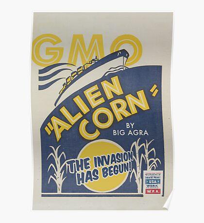 Alien Corn Poster