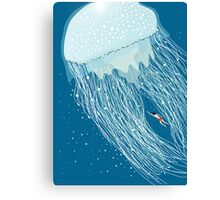 Swimming with the jellyfish Canvas Print
