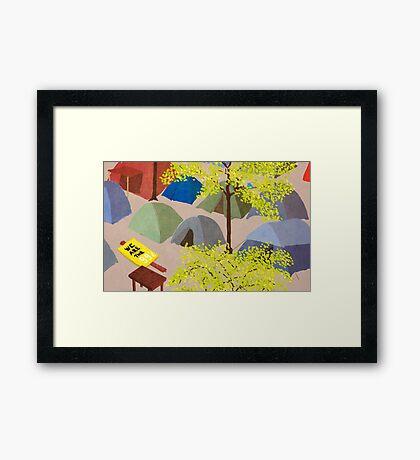 Sunrise in Zuccotti Park - OWS Framed Print