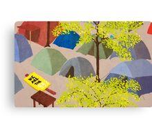 Sunrise in Zuccotti Park - OWS Canvas Print