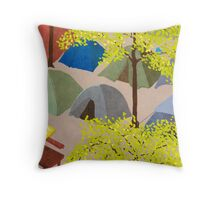Sunrise in Zuccotti Park - OWS Throw Pillow