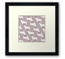 Bull Terrier pattern Framed Print