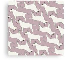 Bull Terrier pattern Canvas Print