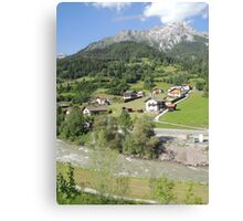 Somewhere between Zurich and Innsbruck Canvas Print