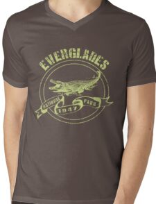 Everglades National Park in green Mens V-Neck T-Shirt