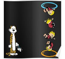 calvin and hobbes teleport  Poster