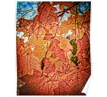 Maple Leaves Mosaic Poster